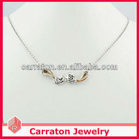 2013 Fashion Rhinestone Choker Silver Necklace