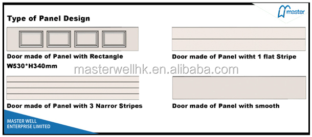 Orange peel with reinforcing line garage door panel of finger protection,CE approved