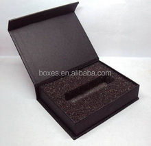 USB Electronic use Hard gift box foam box cardboard packaging box