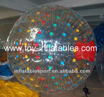Human hamster ball, clear zorb ball