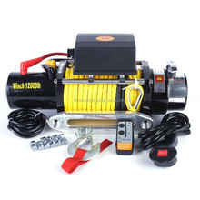 4WD Synthetic rope winch 12000lbs, Nylon rope winch