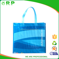 Blue color simple custom rip resistance pp woven bags for rice