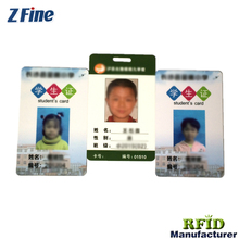 size of portrait id card custom photo student id card