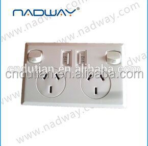 Nadway wall power socket with 2 USB