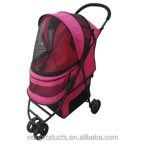 Dog Stroller Cat Stroller, Dog 3 Wheel Folding Travel Pet Stroller, Folding Dog Travel Stroller