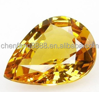 multi-color pear cut cubic zircon semiprecious stone wholesale