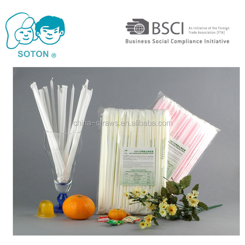 Biodegradable Compostable Plastic Drinking Straws