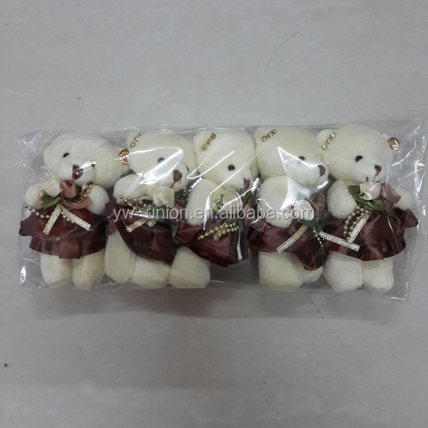assorted bouquet toy , 11 cm bouquet teddy bear , delicate baby bear for bouquet