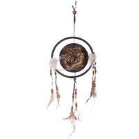 Lisa Parker Loyal Companions Wolf Feather Dreamcatcher