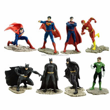 Custom-made PVC plastic batman vs Superman figure, superhero action figure toy