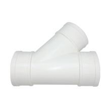 3 ways high pressure 45 degree y branch pvc pipe fitting lateral tee