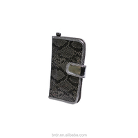 Hot Sale OEM Model Glitter Grey Beautiful Lady Wallet with PVC Window