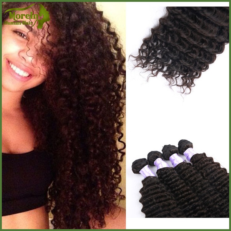 China supplier supply factory price unprocessed virgin India deep wave