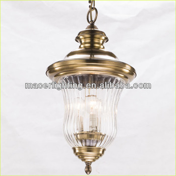 European decorative brass outdoor pendant lamp