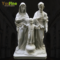 Church Decarative White Marble Holy Family Statue