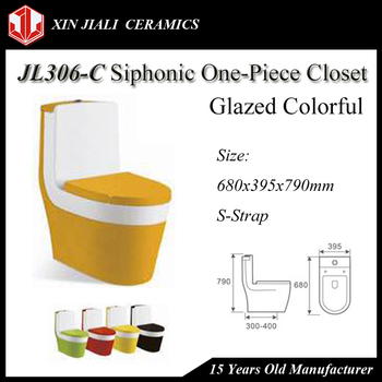 JL306-C Colorful Glazed Siphonic One-Piece Toilet