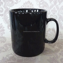 [ZIBO HAODE CERAMICS] balck glazed big 32 oz coffee mug customized design souvenir cup