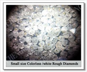 HPHT small size white rough diamond of very competitive prices