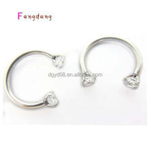 New arrival stainless steel horseshoe body piercing jewelry nose ring