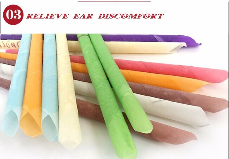organic plant material ear candle for helping clean ear