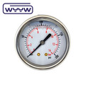 axial mount oil filled stainless steel pressure gauge WYYW