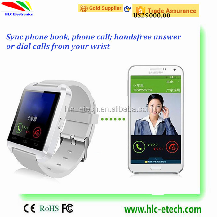 U8 Smart Watch Fashion with bluetooth Android Watch Digital Sport Wrist LED Watch Compatiable iOS Android Phone U8 Smartwatch