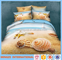 beautiful ocean 85GSM 100% polyester comfort set 3D bedding set