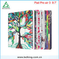 For iPad Air Three Folding Stand Holder Painted Leather Case Super Slim Leather Case For iPad Pro Air