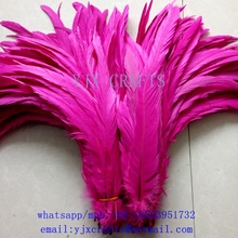 "Wholesale 14-16"" cocktail feather,bleached and dyed rooster feathers"