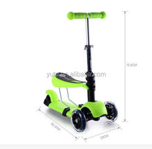 3 wheel self balancing/balance electric scooters children outdoor toys kids fitness equipment wholesale kick scooter