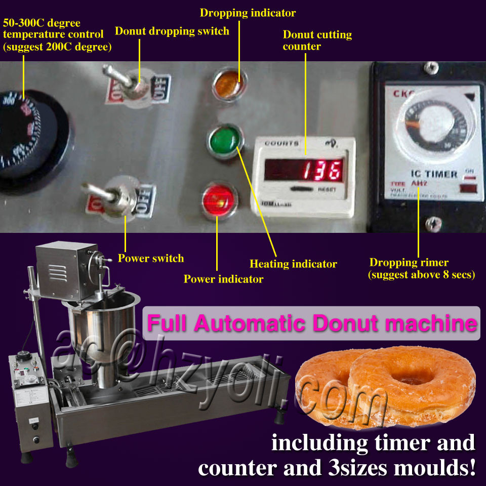 industrial automatic donut machine/mini donut making machine/300-500 PCS/H donut maker, T-101
