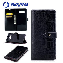 business type crocodile pu leather phone case for samsung galaxy note 8