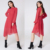 Asymmetric Cut Open Back Women Clothing Dresses