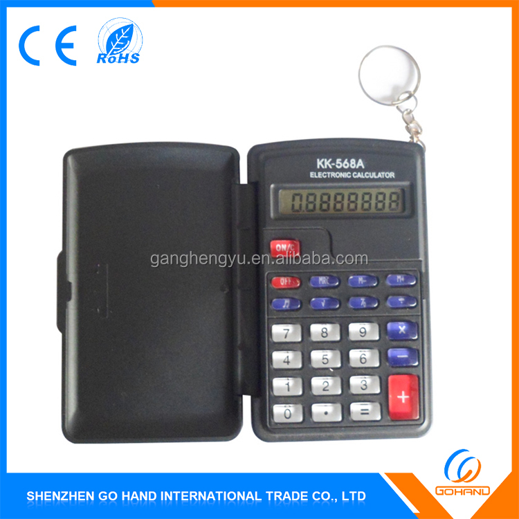 Best Selling 8 Digits Electronic Flip Cover Mini Pocket Calculators