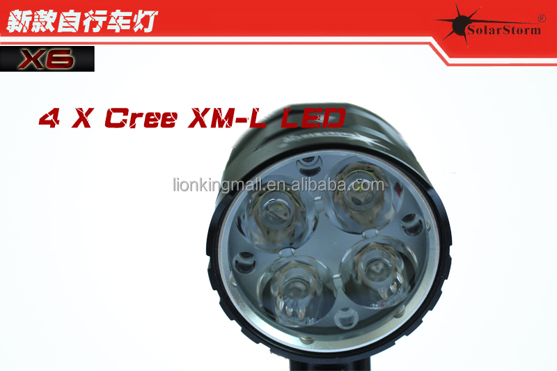 X6 4 X Cree XM-L2 <strong>U2</strong> led bicycle light bike light <strong>lamps</strong> lantern flashlight