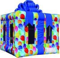 Hot sale inflatable jumping bouncer castle inflatable with gift box shape M1078
