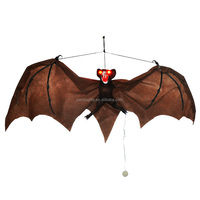 halloween hanging brown light up artificial bat for home decoration