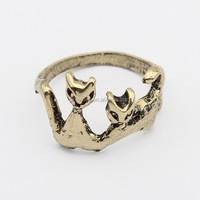 R039 Stocking Europe and America Hot Selling New Design Cat Ring Jewelry wholesale china fashion vintage Cat ring Free shipping