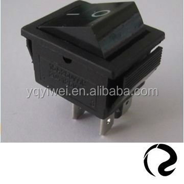 without neon lamp black rocker O I marking KCD series 4 terminals rocker switch