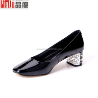 2016 spring lady high heel shoes for ladies 2015 factory manufacturer girl genuine leather elegant woman moccasin lady shoes