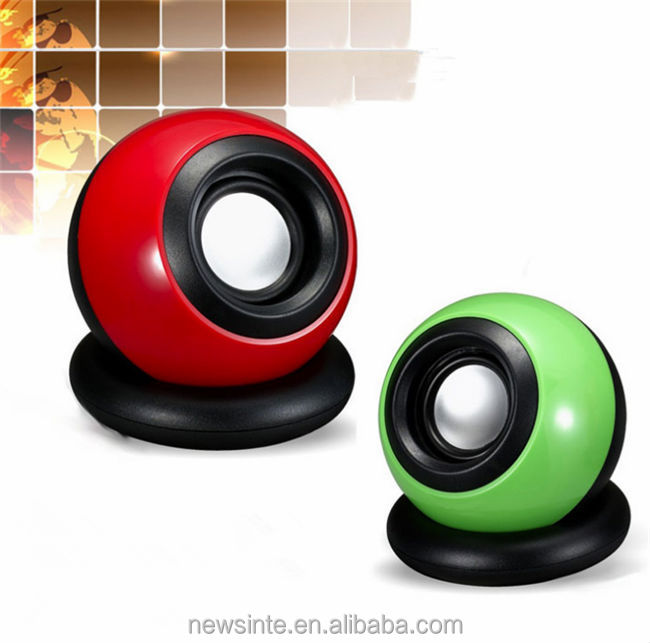 cheap universal 2.0 speaker for laptop/smartphone/MP3/MP4 cute round speaker for handsome and beauty