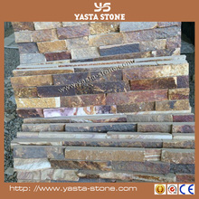 Landscaping stone Rusty culture stone with quartz & slate