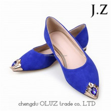 OP29 royal blue womens dress women soft sole shoes