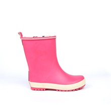 Pink custom kids rubber rain boots