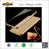 New Coming !! Soft Rubber Metal Color Bumper Back Cover Case for iphone 6 6S Ultra Thin Case