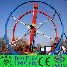 Crazy!!! Adult Loved Outdoor Park Game Rides Ferris Car Rotating Ferris Ring Car For Sale