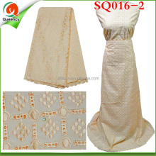 SQ016-2 2015 High Quality Wholesale Cotton African Lace/Voile Lace/Big Lace For Women Clothes