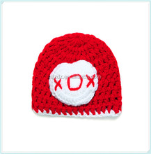 Casual handmade crochet hats , red heart baby hats , knitted infant caps