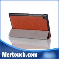 Hot selling 7inch crazy horse leather case for Asus ME572c foldable tablet cover for Asus Memo pad 7 ME572c