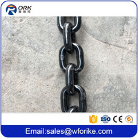 Alloy Steel Welded Round Link Fishing Black Finished Chain